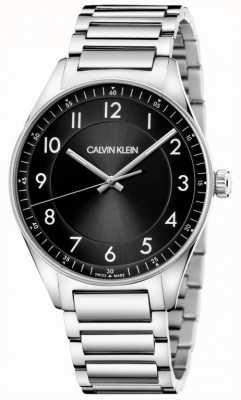 Calvin Klein | jasny | bransoleta ze stali nierdzewnej | czarna tarcza KBH21141