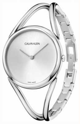 Calvin Klein | pani | bransoleta ze stali nierdzewnej | srebrna tarcza | KBA23126