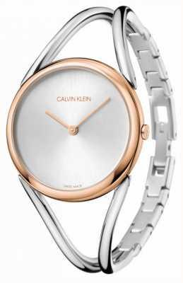Calvin Klein Lady | bransoleta ze stali nierdzewnej | srebrna tarcza | KBA23626