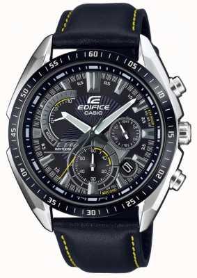 Casio | gmach | chronograf | czarny skórzany pasek | czarna tarcza EFR-570BL-1AVUEF