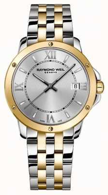 Raymond Weil Mężczyźni | tango | 2-tonowa stalowa bransoletka | srebrna tarcza 5591-STP-00657
