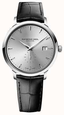 Raymond Weil Mężczyźni | toccata | czarny skórzany pasek | srebrna tarcza 5484-STC-65001