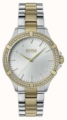 BOSS | mini sport dla kobiet | dwukolorowa stalowa bransoletka | srebrna tarcza 1502467