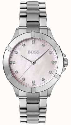BOSS | mini sport dla kobiet | srebrna bransoleta ze stali | srebrna tarcza | 1502469