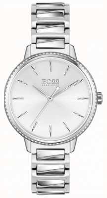 BOSS | podpis kobiet | bransoleta ze stali nierdzewnej | srebrna tarcza 1502539