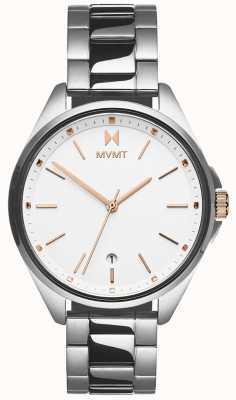 MVMT | coronada dla kobiet | bransoleta ze stali nierdzewnej | biała tarcza 28000001-D