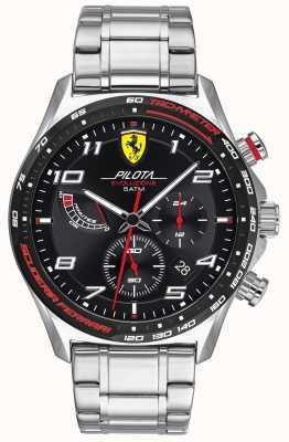 Scuderia Ferrari | pilot męski evo | bransoleta ze stali nierdzewnej | czarna tarcza 0830720