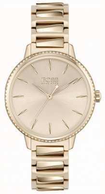 BOSS Podpis kobiet | bransoleta ze stali w kolorze różowego złota | 1502540
