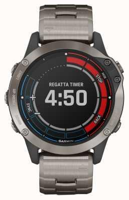 Garmin Quatix 6 sapphire | morski zegarek GPS z tytanowo-szarym paskiem 010-02158-95