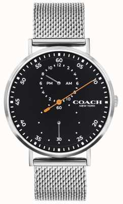 Coach | Charles Charles | bransoletka ze stali | czarna tarcza 14602477