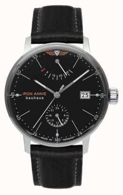 Iron Annie Bauhaus | automatyczne | czarny skórzany pasek | czarna tarcza 5060-2