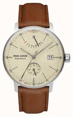 Iron Annie Bauhaus | automatyczne | jasnobrązowy skórzany pasek | beżowa tarcza 5060-5