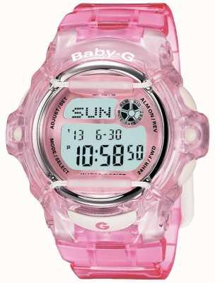 Casio Baby g różowy pasek cyfrowy wyświetlacz BG-169R-4ER