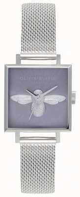 Olivia Burton 3d pszczoła   srebrna bransoletka damska   srebrna tarcza pszczoły OB16AM136