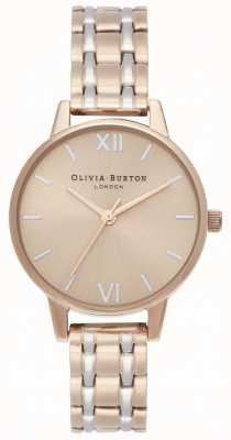 Olivia Burton | kolekcja anglia | dwukolorowa stalowa bransoletka | OB16EN02