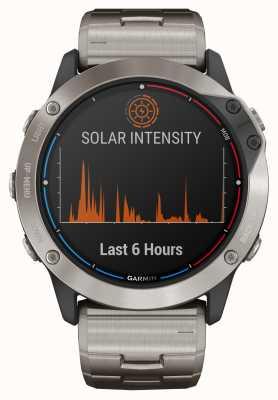 Garmin Bransoletka tytanowa ze szkła solarnego Quatix 6x zasilana energią słoneczną 010-02157-31
