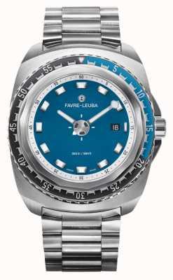 Favre Leuba Raider ciemnoniebieski 44 | bransoleta ze stali nierdzewnej | niebieska tarcza | 00.10102.08.52.20