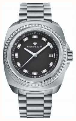 Favre Leuba Raider Sea King | bransoleta ze stali nierdzewnej | czarna tarcza | 00.10107.08.11.20