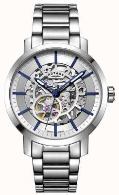 Rotary Automatyczny Greenwich | bransoleta ze stali nierdzewnej | srebrna tarcza GB05350/06