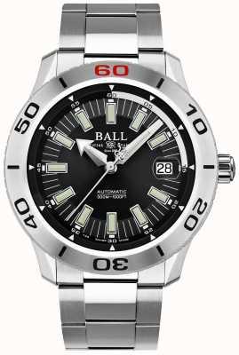 Ball Watch Company Strażak czarna szyjka   bransoleta ze stali nierdzewnej   czarna tarcza DM3090A-S3J-BK