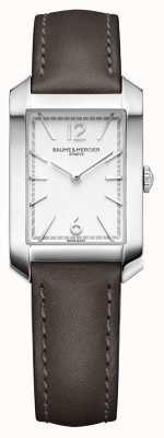 Baume & Mercier Lady Hampton | opalowa srebrna tarcza | skórzany pasek z likieru M0A10471
