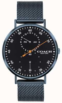 Coach Zegarek z niebieskiej bransoletki Charles 14602478