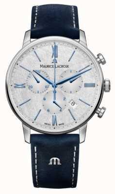 Maurice Lacroix Chronograf Eliros | niebieski skórzany pasek | srebrna tarcza EL1098-SS001-114-1