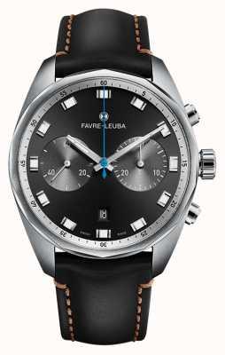 Favre Leuba Chief Sky Chief Chronograph | czarny skórzany pasek 00.10202.08.11.41
