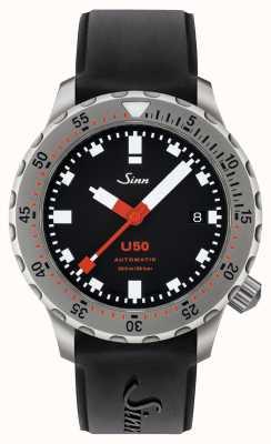 Sinn U50 | czarny silikonowy zegarek dla nurków 1050.010 BLACK RUBBER