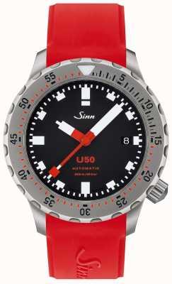 Sinn U50 | czerwony silikonowy zegarek dla nurków 1050.010 RED STRAP