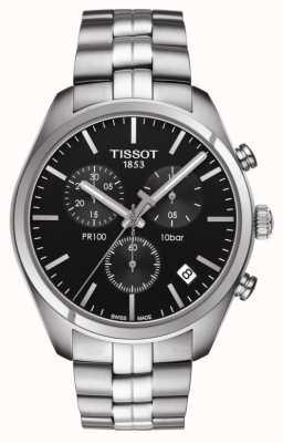 Tissot Pr 100   chronograf   czarna tarcza T1014171105100