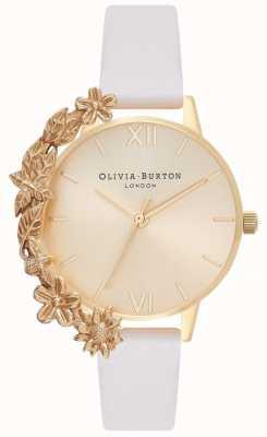 Olivia Burton Kajdanki na mankiety | nagi skórzany pasek | złota tarcza OB16CB10