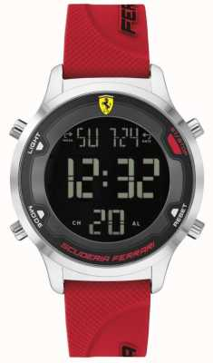 Scuderia Ferrari Cyfrowa gra dla mężczyzn | czerwony gumowy pasek | czarna tarcza cyfrowa 0830757