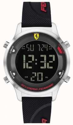 Scuderia Ferrari Cyfrowa gra dla mężczyzn | czarny gumowy pasek | czarna tarcza cyfrowa 0830756
