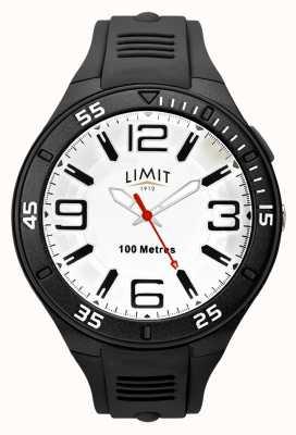 Limit Czarny pasek z gumy męskiej | biała tarcza 5796.65