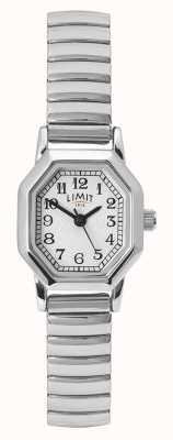 Limit Damska bransoleta ze stali nierdzewnej | biała / srebrna tarcza 60122.38