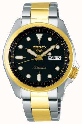 Seiko Męski automatyczny zegarek sportowy 5 | dwutonowy SRPE60K1