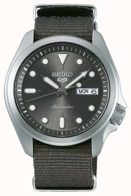 Seiko Męski automatyczny zegarek sportowy 5 | szary nato SRPE61K1