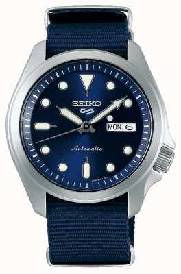 Seiko Męski automatyczny zegarek sportowy 5 | niebieski nato SRPE63K1