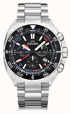 Delma Chronograf kwarcowy Oceanmaster | bransoleta ze stali nierdzewnej 41701.678.6.038