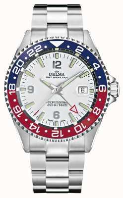 Delma Quartz GMT | dwukolorowa ramka | bransoleta ze stali nierdzewnej | 41701.648.6.P014