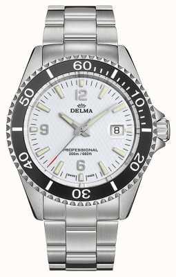 Delma Santiago kwarc | bransoleta ze stali nierdzewnej | biała tarcza 41701.562.6.014