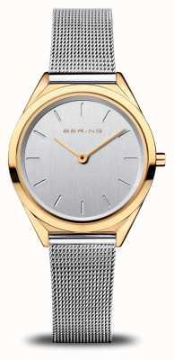 Bering Ultra cienkie damskie | srebrna bransoletka z siatki | polerowane złoto 17031-010
