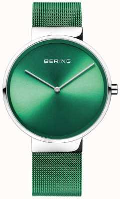 Bering Klasyczny | zielony pasek z siatki | zielona tarcza 14539-808