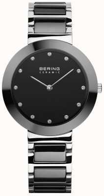 Bering Ceramika damska | czarna ceramiczna bransoletka | czarna tarcza 11434-742