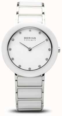 Bering Ceramika damska | biała ceramiczna bransoletka | biała tarcza 11434-754