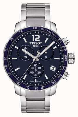 Tissot Chronograf z niebieską tarczą Quickster T0954171104700