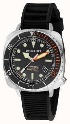 Briston Clubmaster diver pro stal | czarny gumowy pasek | czarna tarcza 20644.S.DP.35.RB