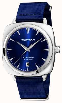 Briston Clubmaster kultowe auto | niebieski pasek nato | niebieska tarcza 19640.PS.I.9.NNB