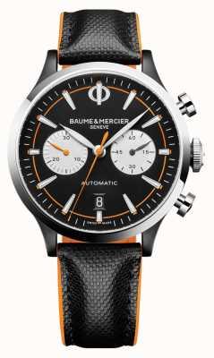 Baume & Mercier Capeland | męskie | automatyczne | czarna skóra | czarna tarcza M0A10451